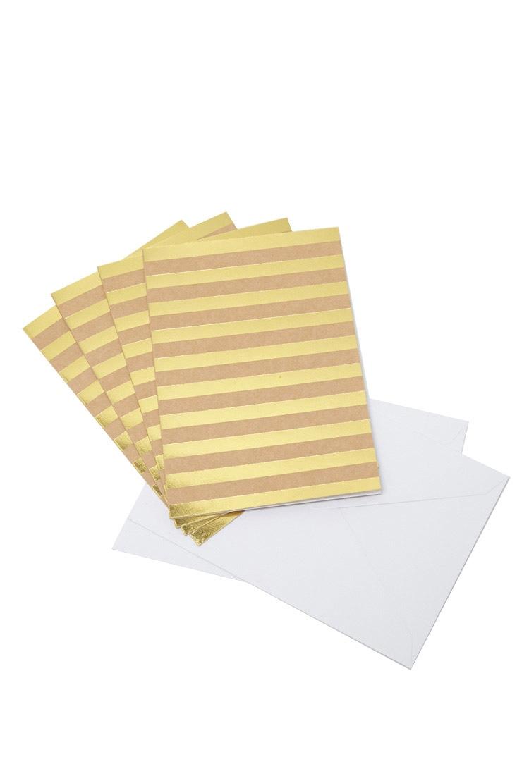 Striped Note Card Set