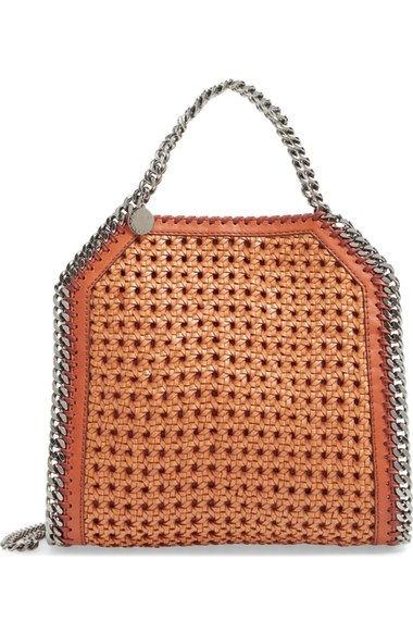 Mini Falabella Woven Faux Leather Tote