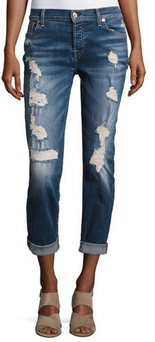 Josefina Relaxed Fit Distressed Jeans