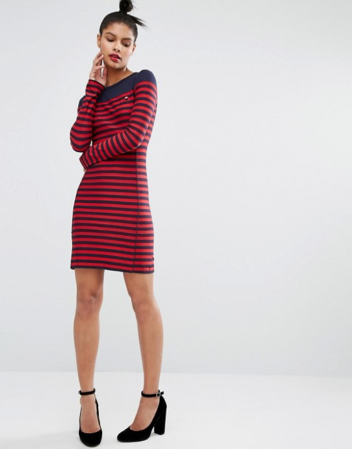 Sonia By Sonia Rykiel Stripe Logo Dress