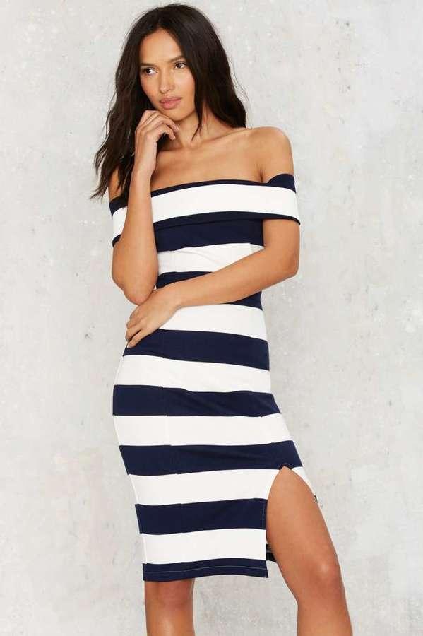 Stripe Right Midi Dress