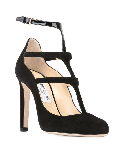 Doll 100 Suede & Patent Leather T Strap Pumps