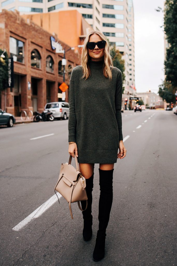 10 Stylish Ways to Wear Your Dresses With Tights and Boots