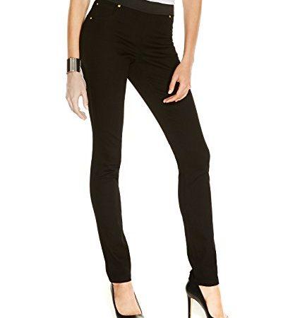 INC International Concepts Women's Pull-On Skinny Jeggings (18, Black Denim)