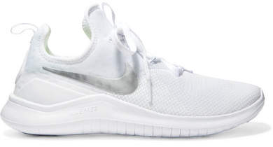 Free Tr 8 Stretch-Knit and Mesh Sneakers