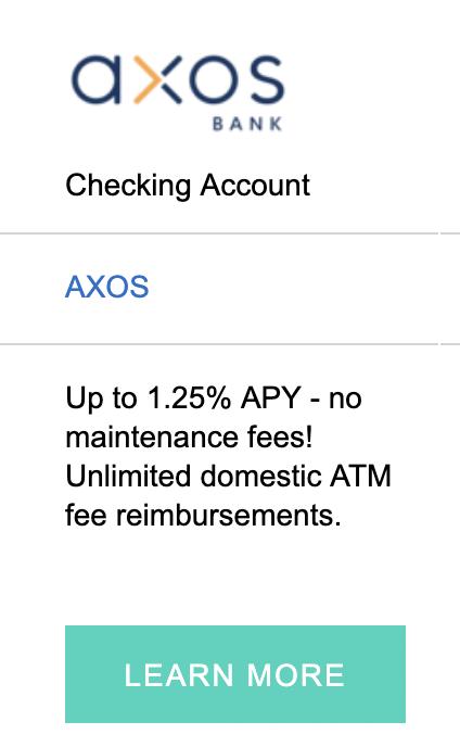 AXOS Banner