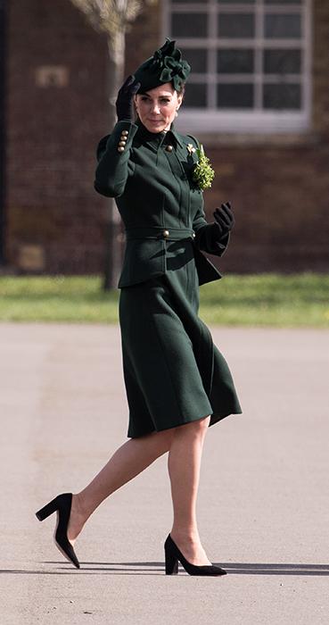 Kate Middleton Green Hat Green Coat Z