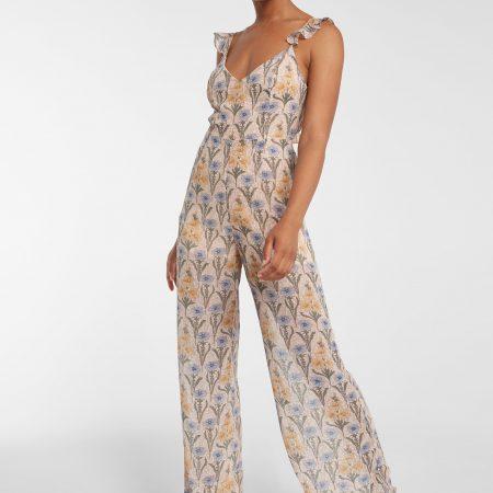Blush Print Jumpsuit