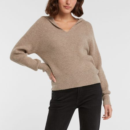 Collared Ribbed Sweater